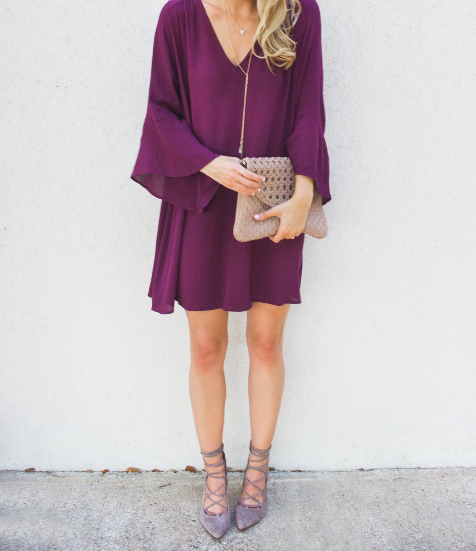 livvyland-blog-olivia-watson-austin-texas-fashion-blogger-bell-sleeve-maroon-wine-burgundy-oxblood-dress-lace-up-heels-1