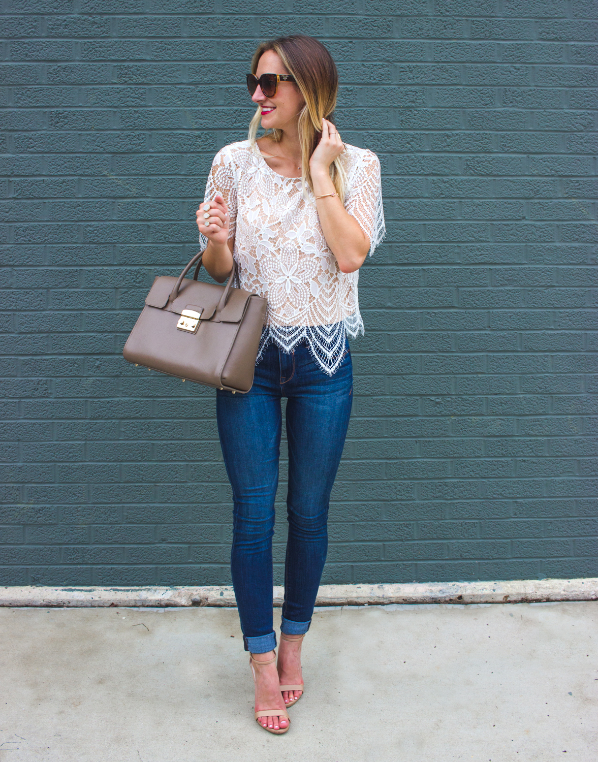 livvyland-blog-olivia-watson-date-night-express-skinny-jeans-lace-overlay-top-1