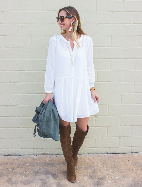livvyland-blog-olivia-watson-fall-outfit-inspiration-drop-waist-white-dress-otk-boots-1