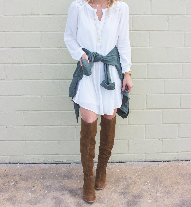 livvyland-blog-olivia-watson-fall-outfit-inspiration-drop-waist-white-dress-otk-boots-11
