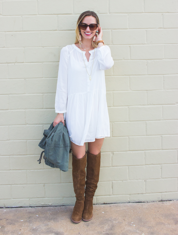 livvyland-blog-olivia-watson-fall-outfit-inspiration-drop-waist-white-dress-otk-boots-2