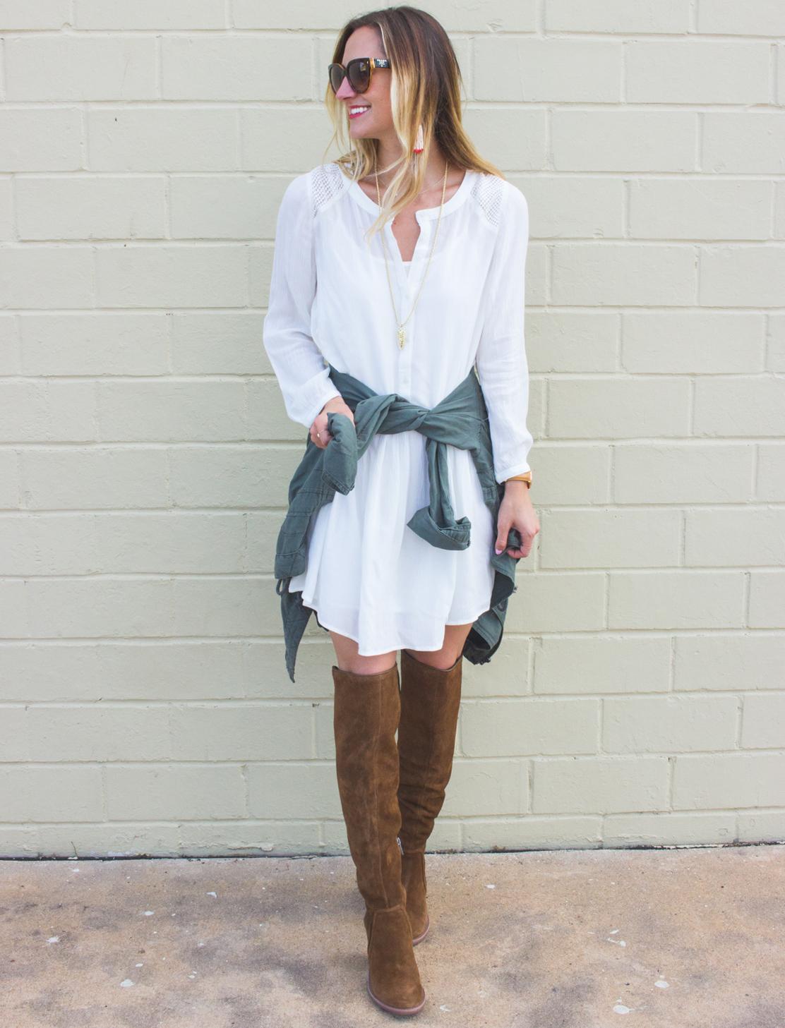 livvyland-blog-olivia-watson-fall-outfit-inspiration-drop-waist-white-dress-otk-boots-3