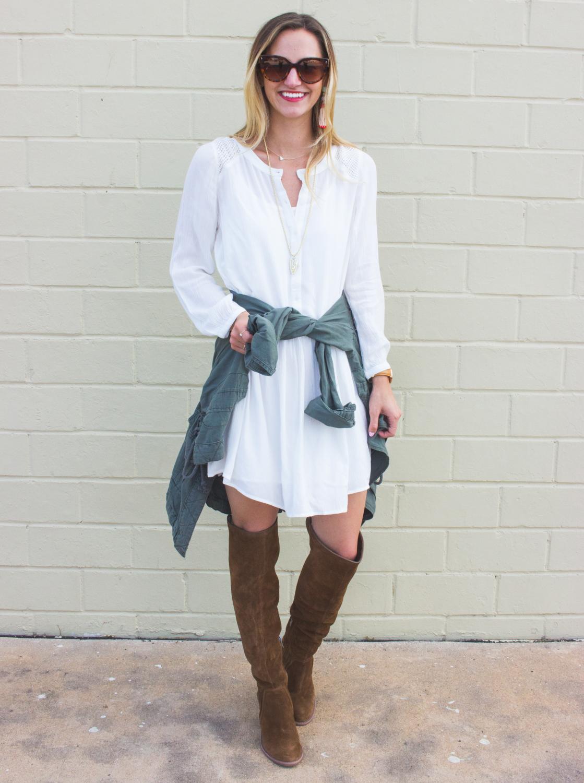 livvyland-blog-olivia-watson-fall-outfit-inspiration-drop-waist-white-dress-otk-boots-5
