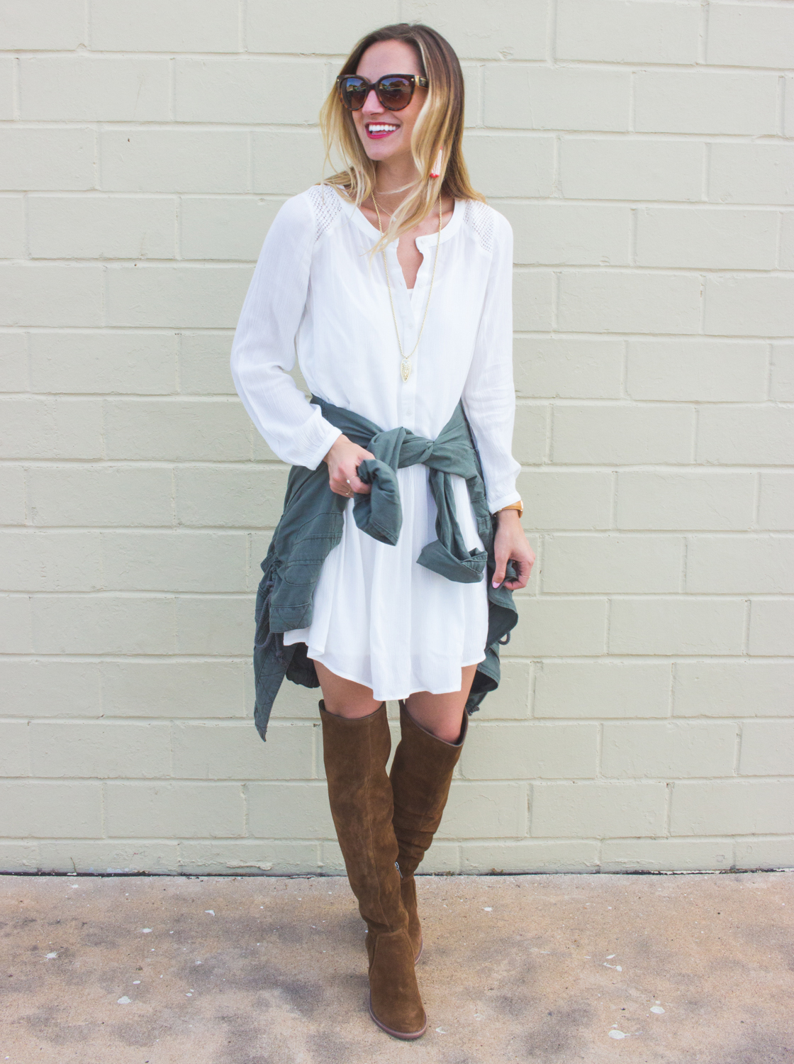 livvyland-blog-olivia-watson-fall-outfit-inspiration-drop-waist-white-dress-otk-boots-7