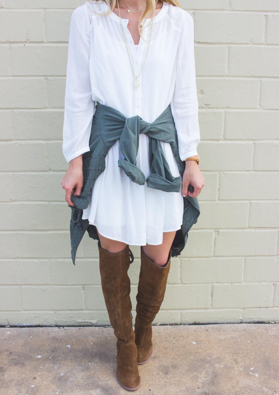 livvyland-blog-olivia-watson-fall-outfit-inspiration-drop-waist-white-dress-otk-boots-8