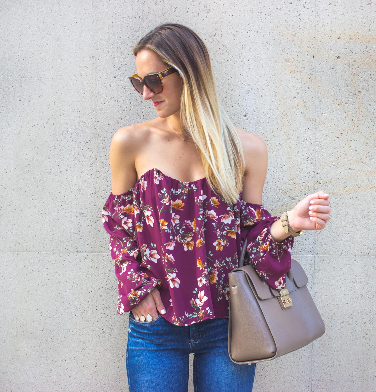 livvyland-blog-olivia-watson-austin-texas-fashion-blogger-off-shoulder-boustier-top-4si3nna-floral-blank-nyc-nordstrom-skinny-jeans-11
