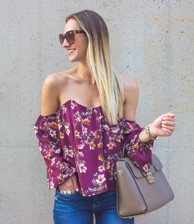 livvyland-blog-olivia-watson-austin-texas-fashion-blogger-off-shoulder-boustier-top-4si3nna-floral-blank-nyc-nordstrom-skinny-jeans-1