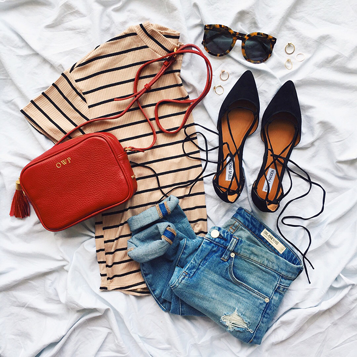 livvyland-blog-olivia-watson-austin-texas-fashion-blogger-steve-madden-lace-up-black-flats-red-crossbody-handbag-striped-mock-neck-top