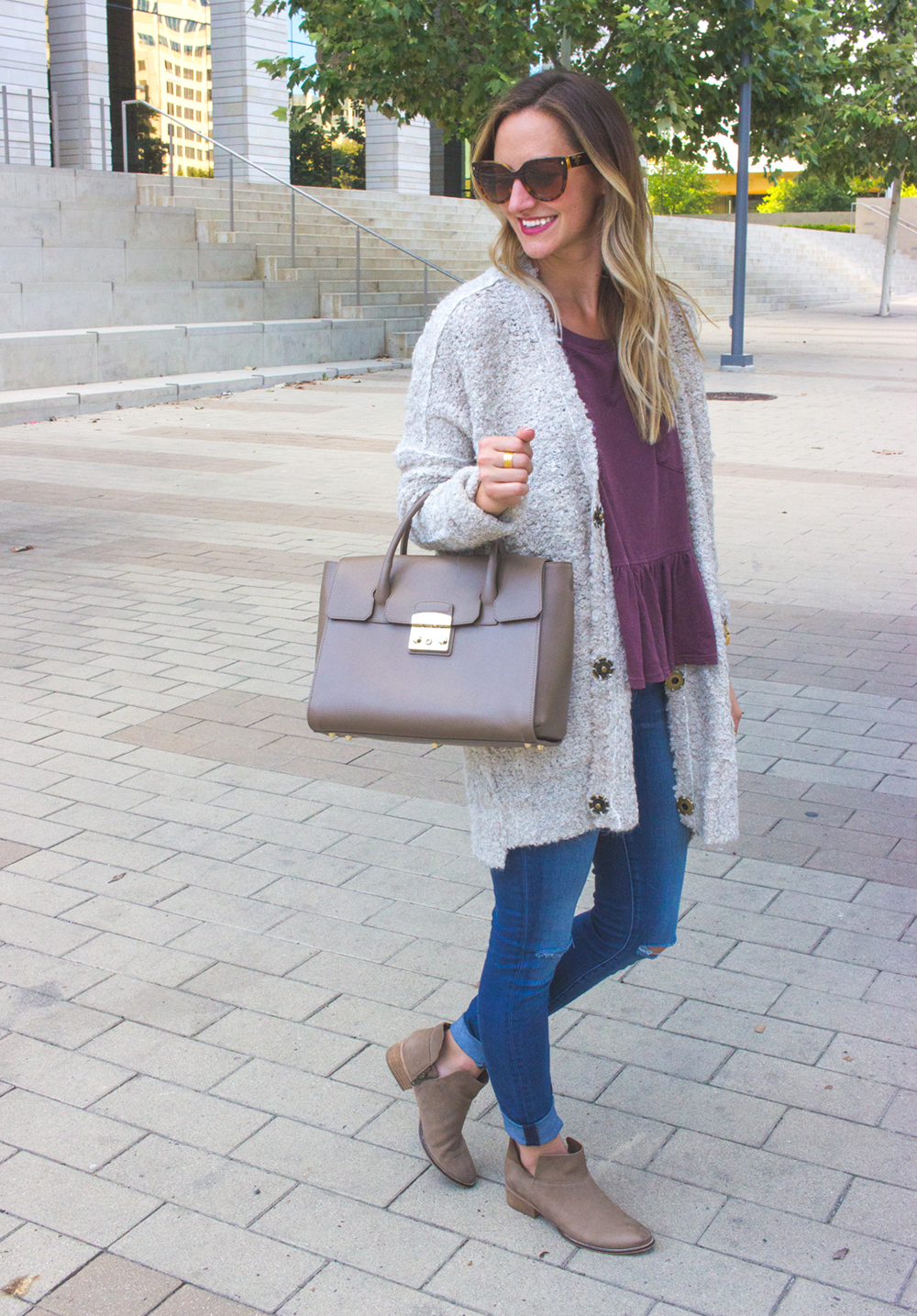 livvyland-blog-olivia-watson-cozy-fall-outfit-grandpa-oversize-cardigan-sweater-seychelles-snare-booties-1