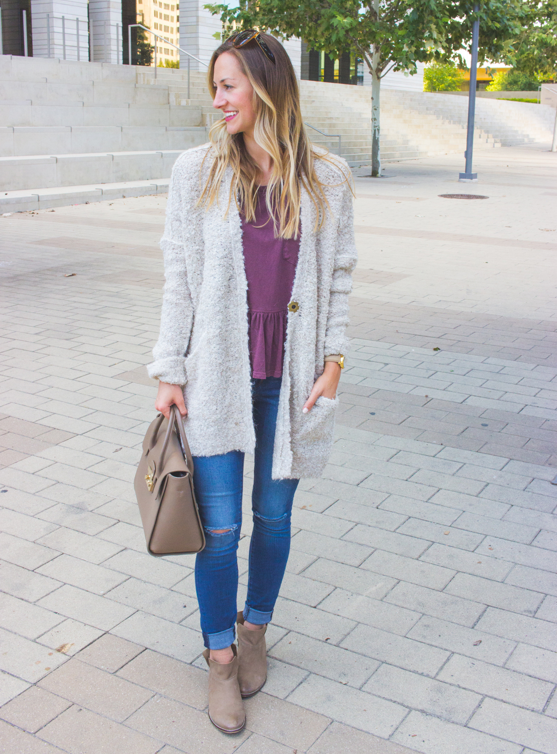 livvyland-blog-olivia-watson-cozy-fall-outfit-grandpa-oversize-cardigan-sweater-seychelles-snare-booties-5