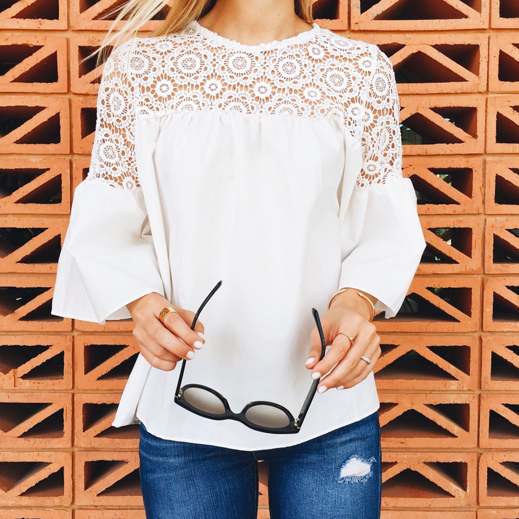 livvyland-blog-olivia-watson-instagram-roundup-september-fall-fashion-chic-wish-crochet-bell-sleeve-top-white-south-congress-hotel-austin-texas