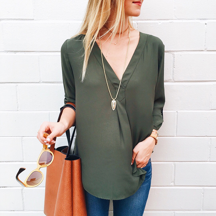 livvyland-blog-olivia-watson-instagram-roundup-september-fall-fashion-lush-clothing-olive-green-tunic-street-level-reversible-tote