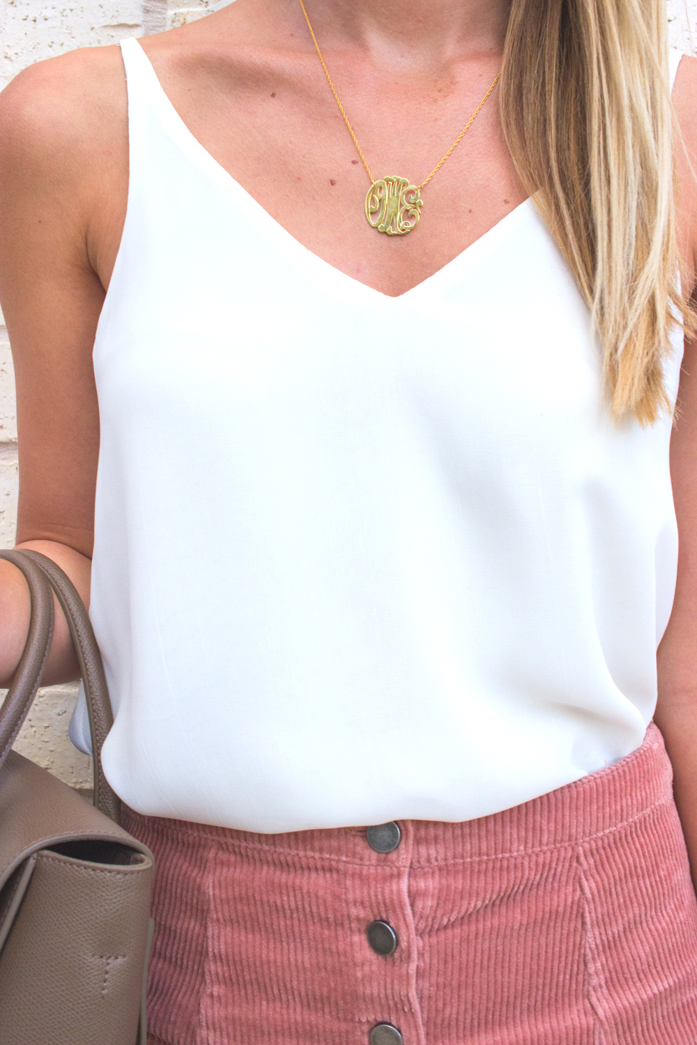 livvyland-blog-olivia-watson-moon-and-lola-monogram-necklace-small-gold-blush-corduroy-skirt-fall-a-line-toms-majorca-booties-5