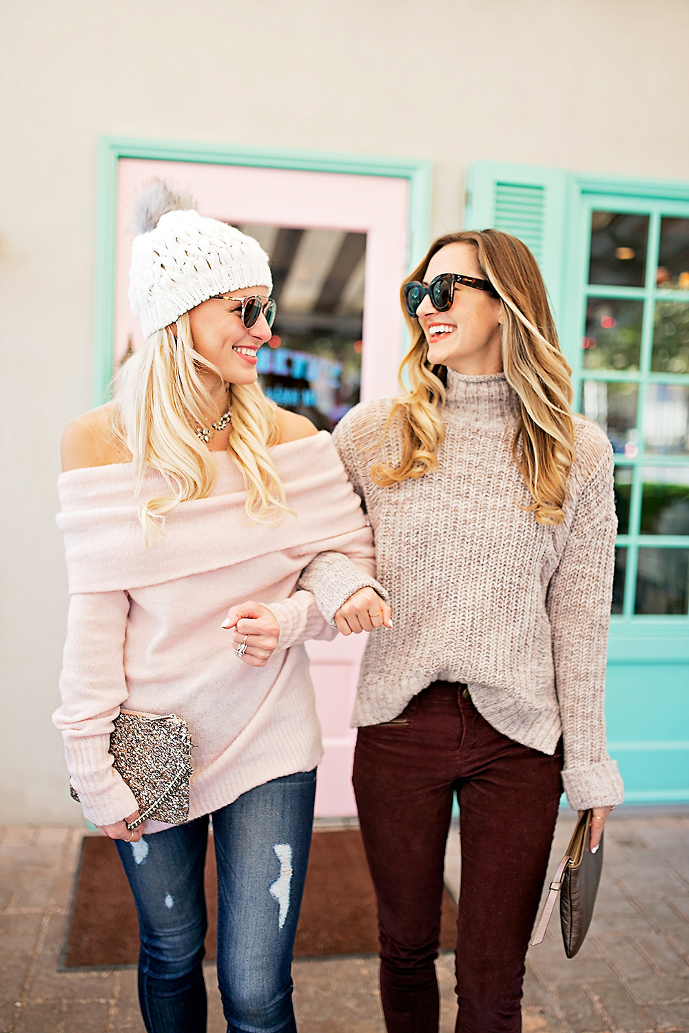 livvyland-blog-olivia-watson-express-cyber-monday-sweater-sale-lauren-vandiver-vandi-fair-cozy-outfit-friend-date-elizabeth-street-cafe-4