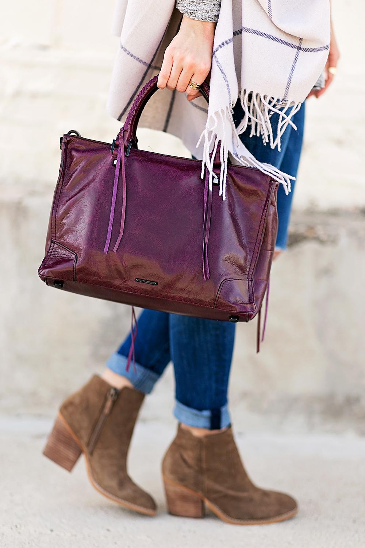 livvyland-blog-olivia-watson-nordstrom-fall-outfit-grey-sweater-booties-madewell-plaid-poncho-rebecca-minkoff-regan-satchel-burgundy-oxblood-8