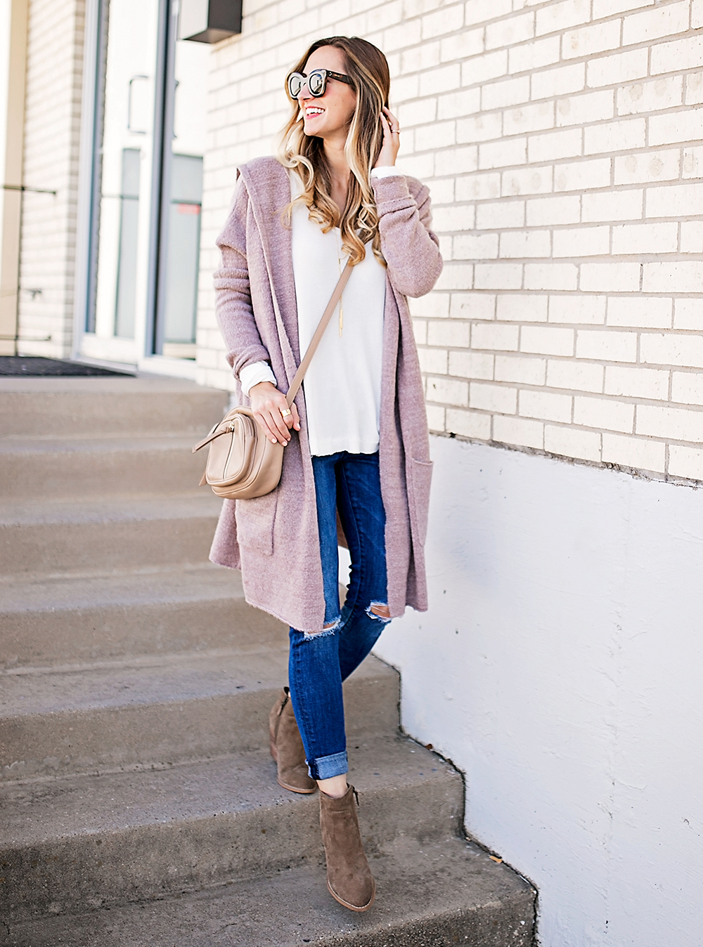livvyland-blog-olivia-watson-blush-pink-dusty-rose-cardigan-sweater-free-people-thermal-top-cozy-light-layers-nordstrom-fall-outfit-4