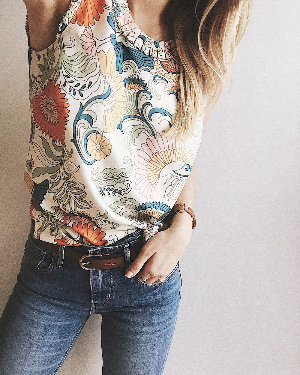 livvyland-blog-olivia-watson-instagram-roundup-livvylandblog-cozy-chic-boho-outfit-idea-1-j-crew-floral-silk-tank-top-blouse