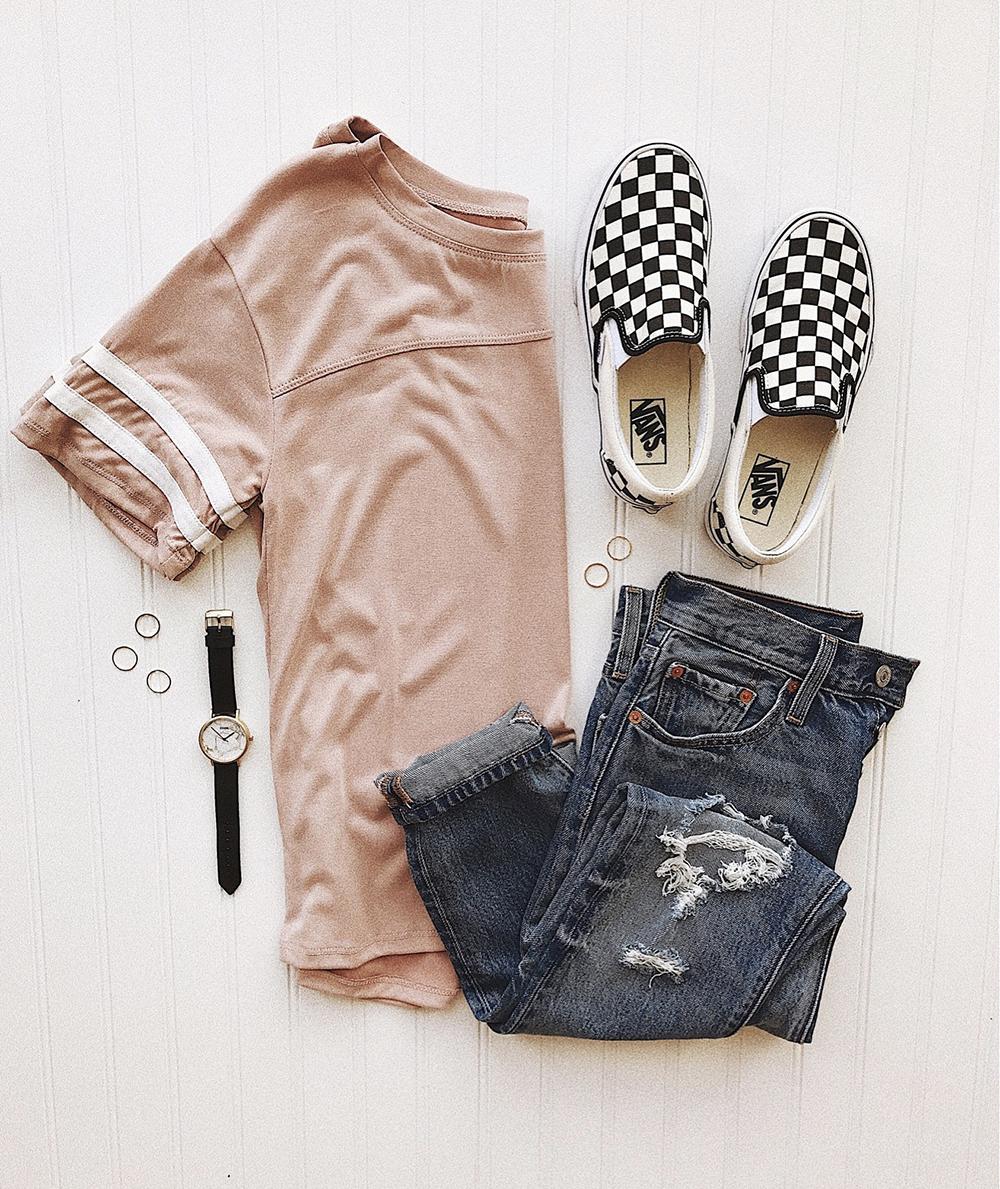 livvyland-blog-olivia-watson-instagram-roundup-livvylandblog-cozy-chic-boho-outfit-idea-levis-vans-checkered-varsity-tee