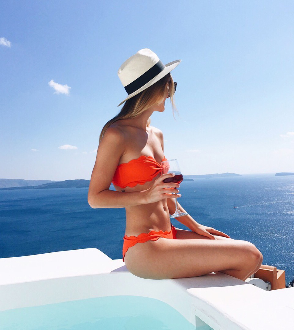 livvyland-blog-olivia-watson-greece-honeymoon-oia-santorini-athens-travel-diary-guide-marsia-scalloped-red-bikini