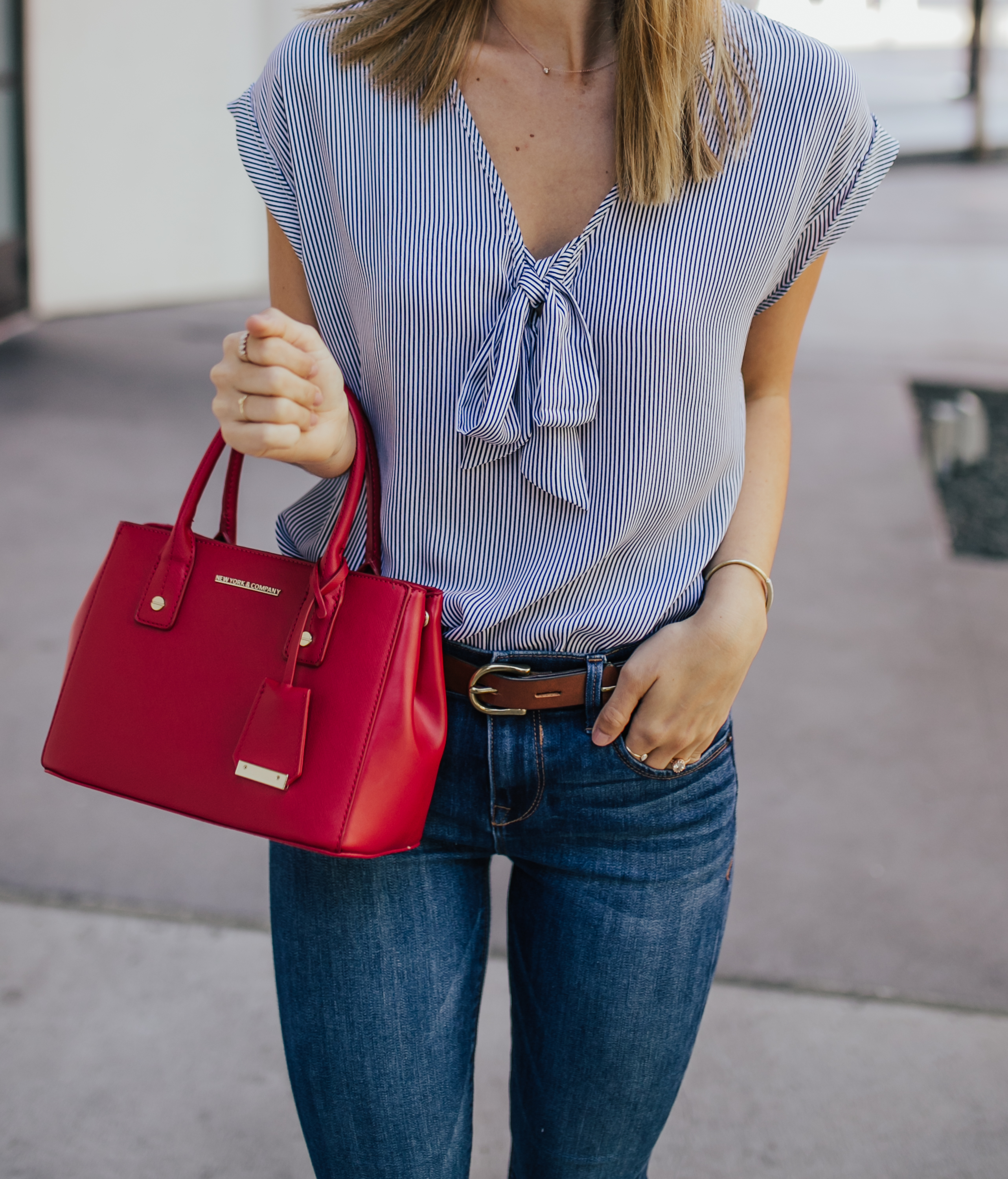 livvyland-blog-olivia-watson-new-york-and-company-striped-chiffon-top-red-handbag-austin-texas-fashion-blogger-2
