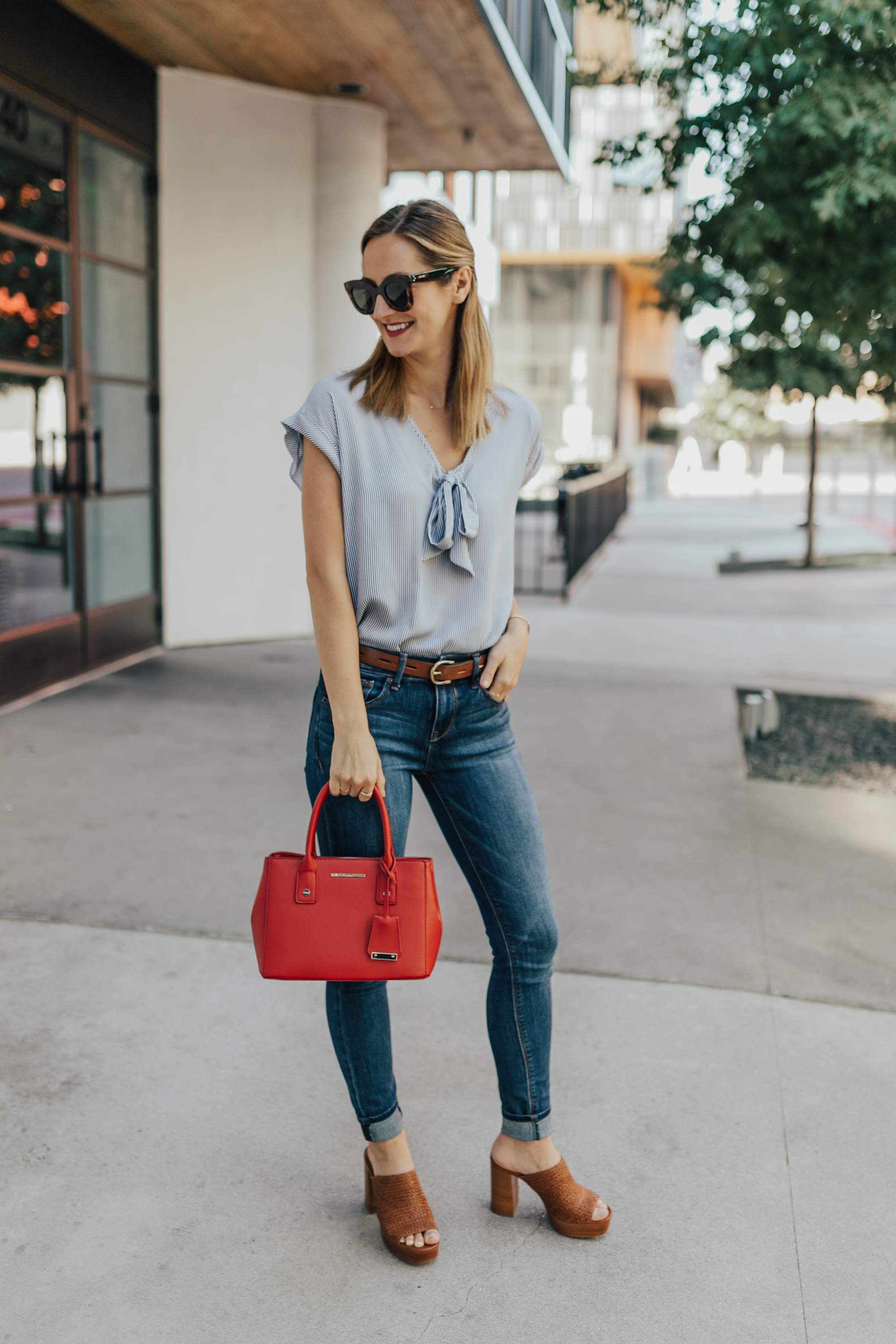 livvyland-blog-olivia-watson-new-york-and-company-striped-chiffon-top-red-handbag-austin-texas-fashion-blogger-4