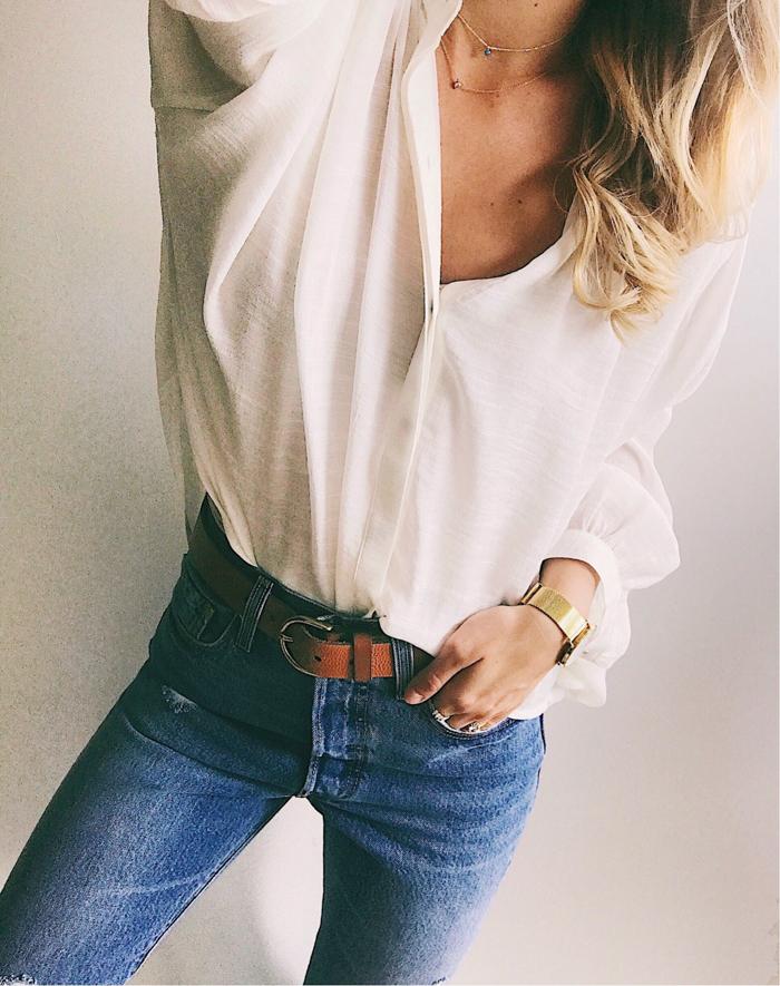 livvyland-blog-olivia-watson-summer-oufit-white-blouse-high-rise-jeans-vsco