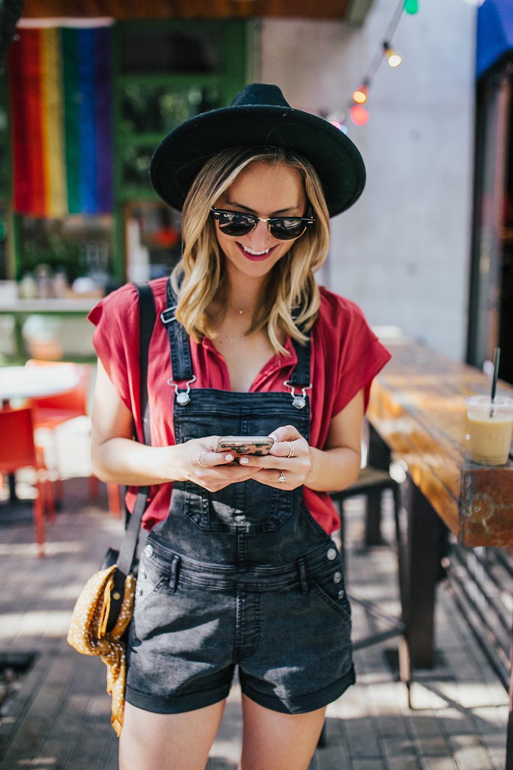 livvyland-blog-olivia-watson-black-short-overalls-abercrombie-everlane-black-pointed-toe-flats-summer-outfit-jos-coffee-second-street-austin-texas-fashion-blogger-3