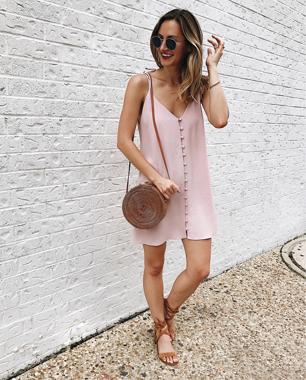 livvyland-blog-olivia-watson-instagram-roundup-june-summer-style-blush-button-up-slipdress