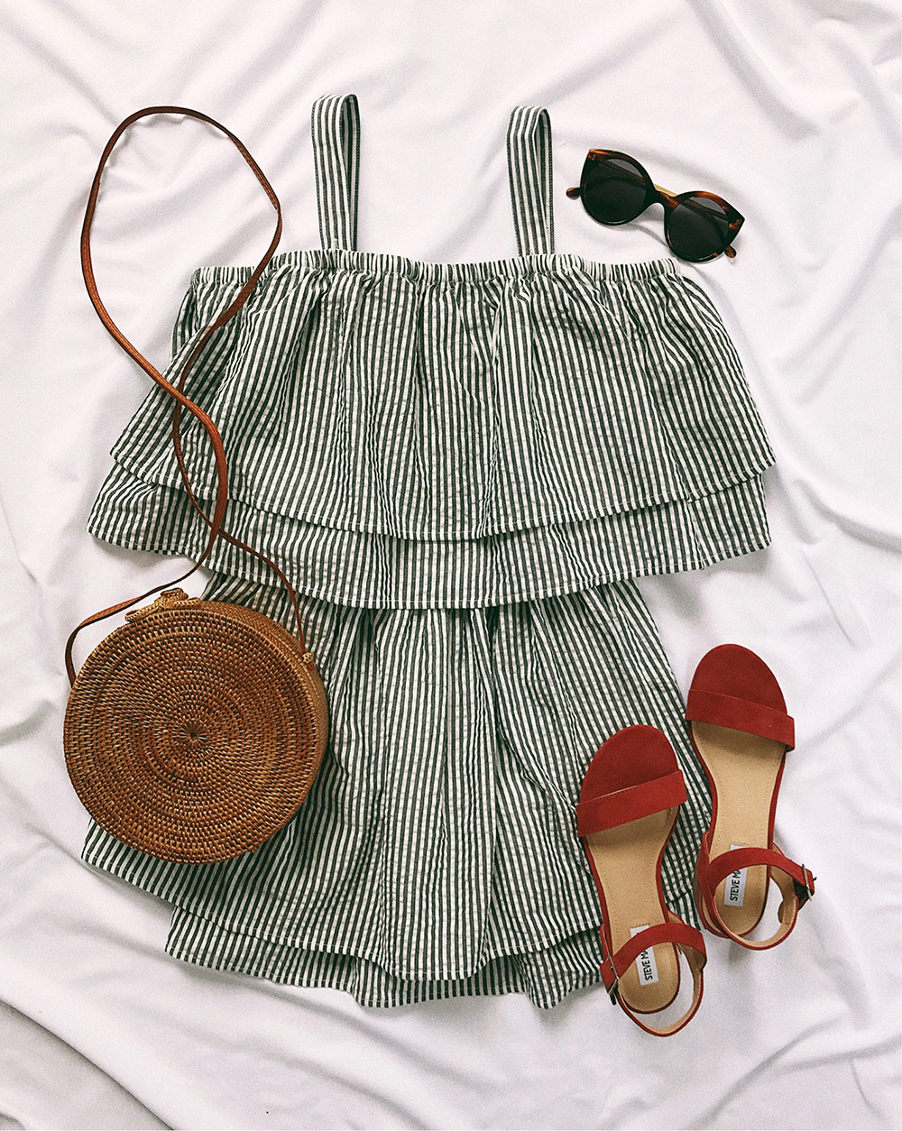 livvyland-blog-olivia-watson-instagram-roundup-june-summer-style-tula-rosa-striped-dress-round-straw-handbag