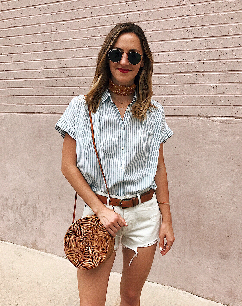 livvyland-blog-olivia-watson-madewell-courier-striped-button-up-top-summer-outfit-olivia-watson-1