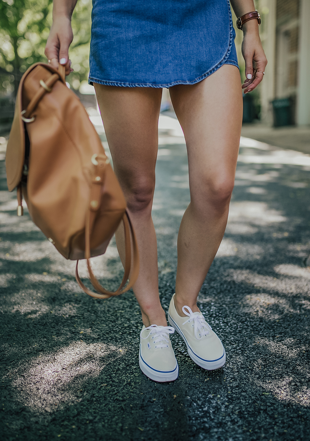 livvyland-blog-olivia-watson-new-york-city-cobble-hill-brooklyn-modcloth-skort-peter-pan-collar-top-vans-classic-sneakers-summer-outfit-2