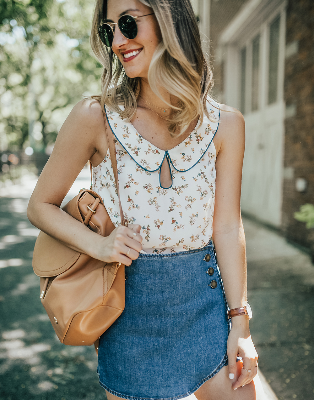 livvyland-blog-olivia-watson-new-york-city-cobble-hill-brooklyn-modcloth-skort-peter-pan-collar-top-vans-classic-sneakers-summer-outfit-9