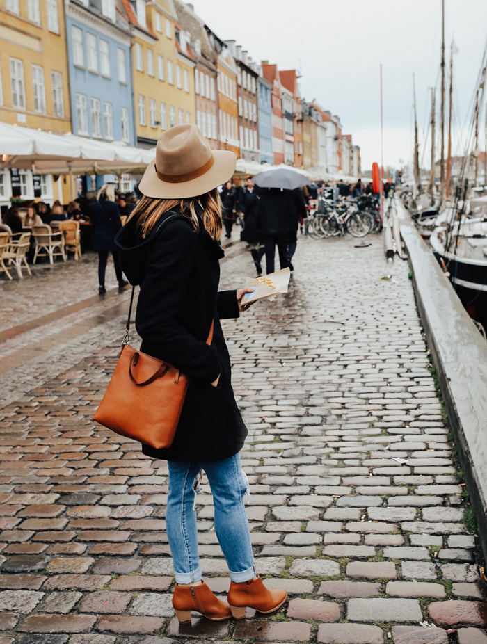 livvyland-blog-olivia-watson-regal-princess-scandinavia-cruise-may-june-itinerary-what-to-wear-pack-ports-copenhagen-denmark-nyhavn-bright-historical-canal-front