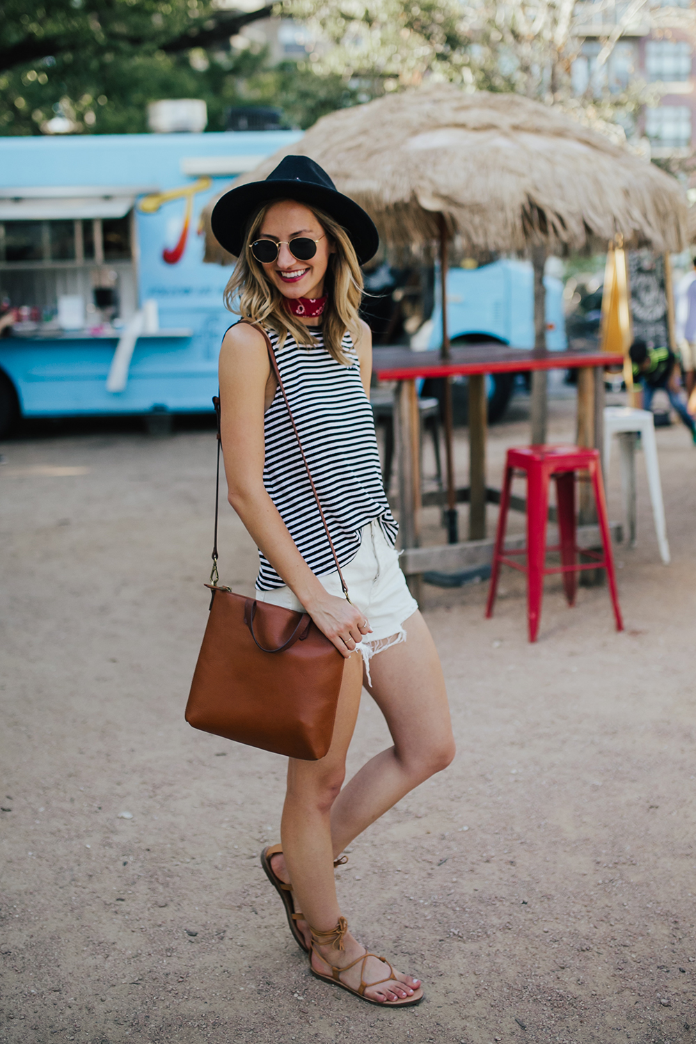 livvyland-blog-olivia-watson-stripe-vans-tank-top-white-cutoff-shorts-pacsun-barton-springs-road-summer-style-4