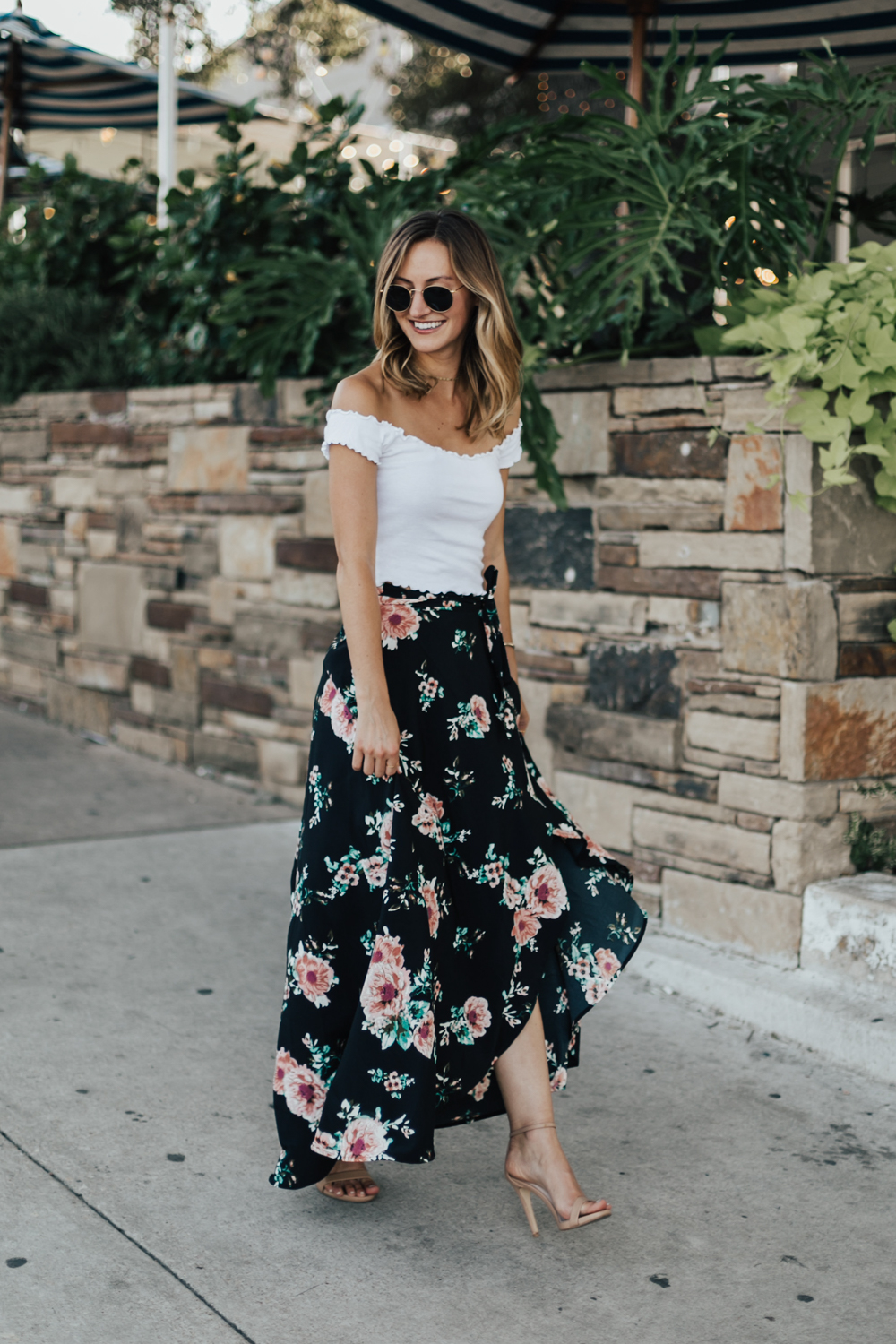 75dcdfd44c96 Floral Wrap Maxi Skirt - LivvyLand | Austin Fashion and Style Blogger