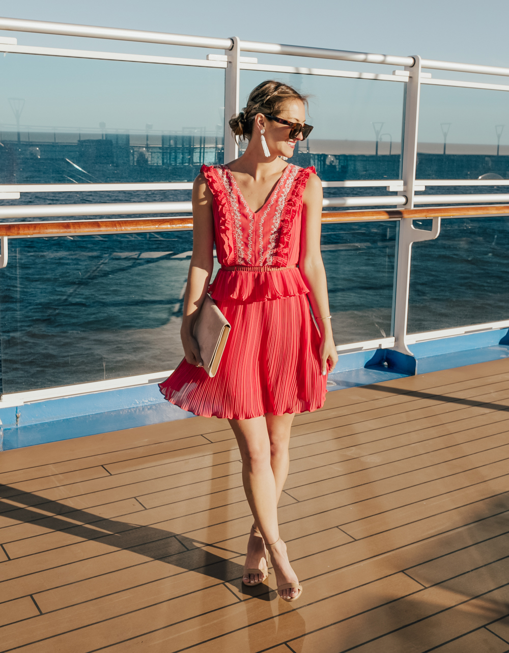 livvyland-blog-olivia-watson-travel-fashion-blogger-princess-cruises-regal-ship-what-to-do-on-board-cruise-red-dress