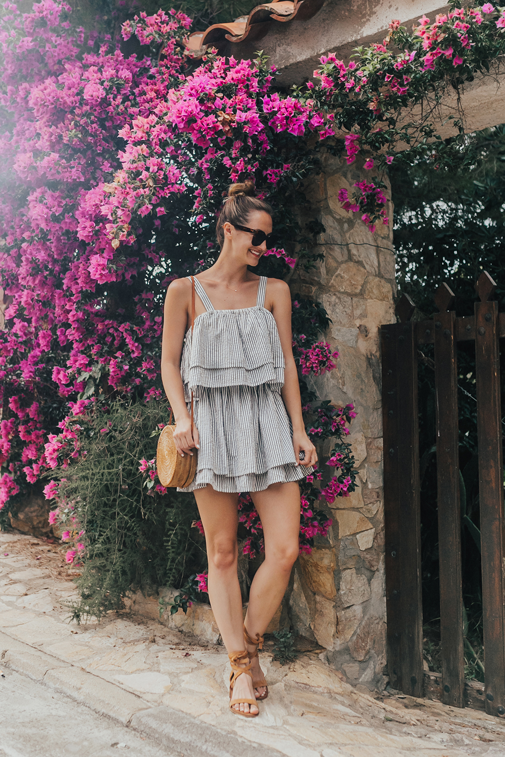 livvyland-blog-olivia-watson-travel-fashion-blogger-revolve-tularosa-striped-tiered-ruffle-dress-costa-brava-barcelona-spain-1