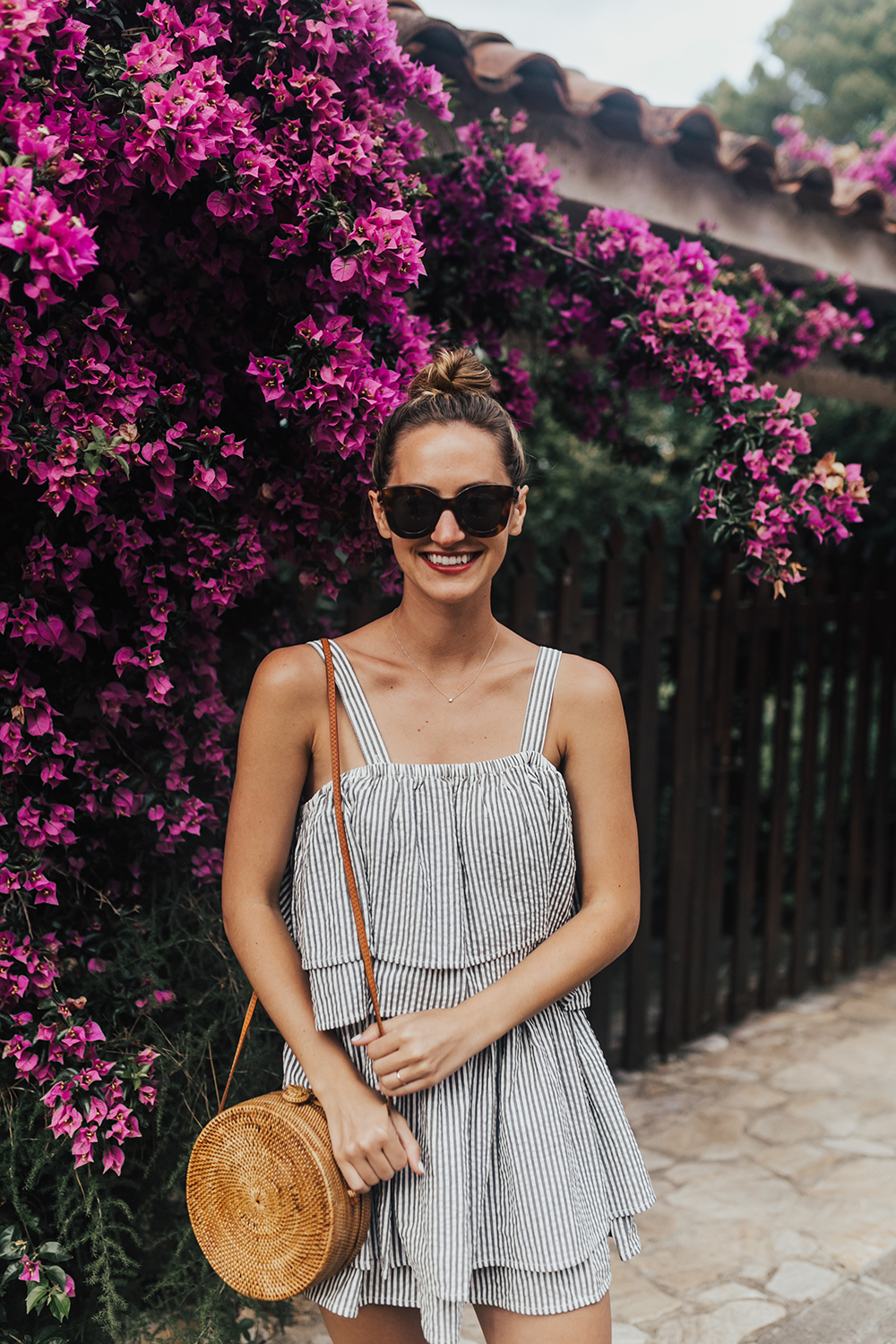 livvyland-blog-olivia-watson-travel-fashion-blogger-revolve-tularosa-striped-tiered-ruffle-dress-costa-brava-barcelona-spain-2