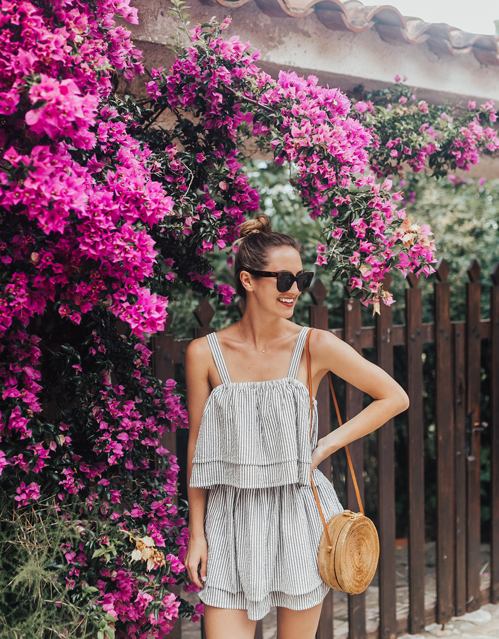 livvyland-blog-olivia-watson-travel-fashion-blogger-revolve-tularosa-striped-tiered-ruffle-dress-costa-brava-barcelona-spain-5