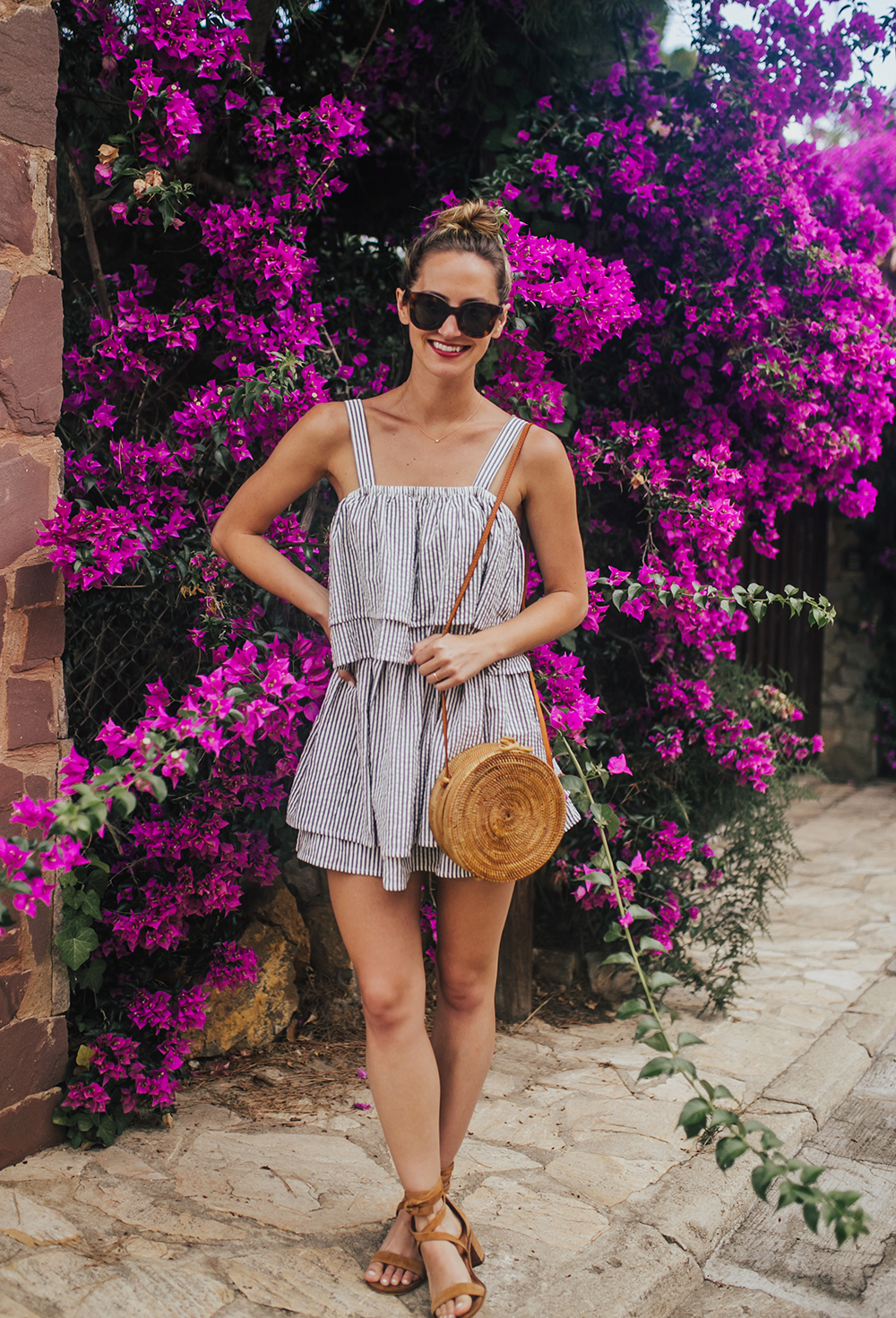 livvyland-blog-olivia-watson-travel-fashion-blogger-revolve-tularosa-striped-tiered-ruffle-dress-costa-brava-barcelona-spain-6