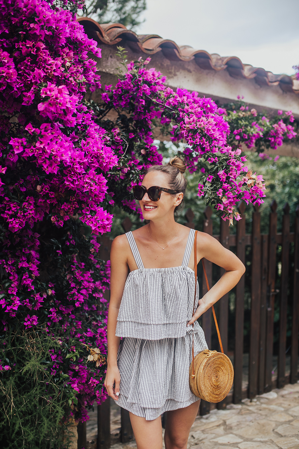 livvyland-blog-olivia-watson-travel-fashion-blogger-revolve-tularosa-striped-tiered-ruffle-dress-costa-brava-barcelona-spain-7
