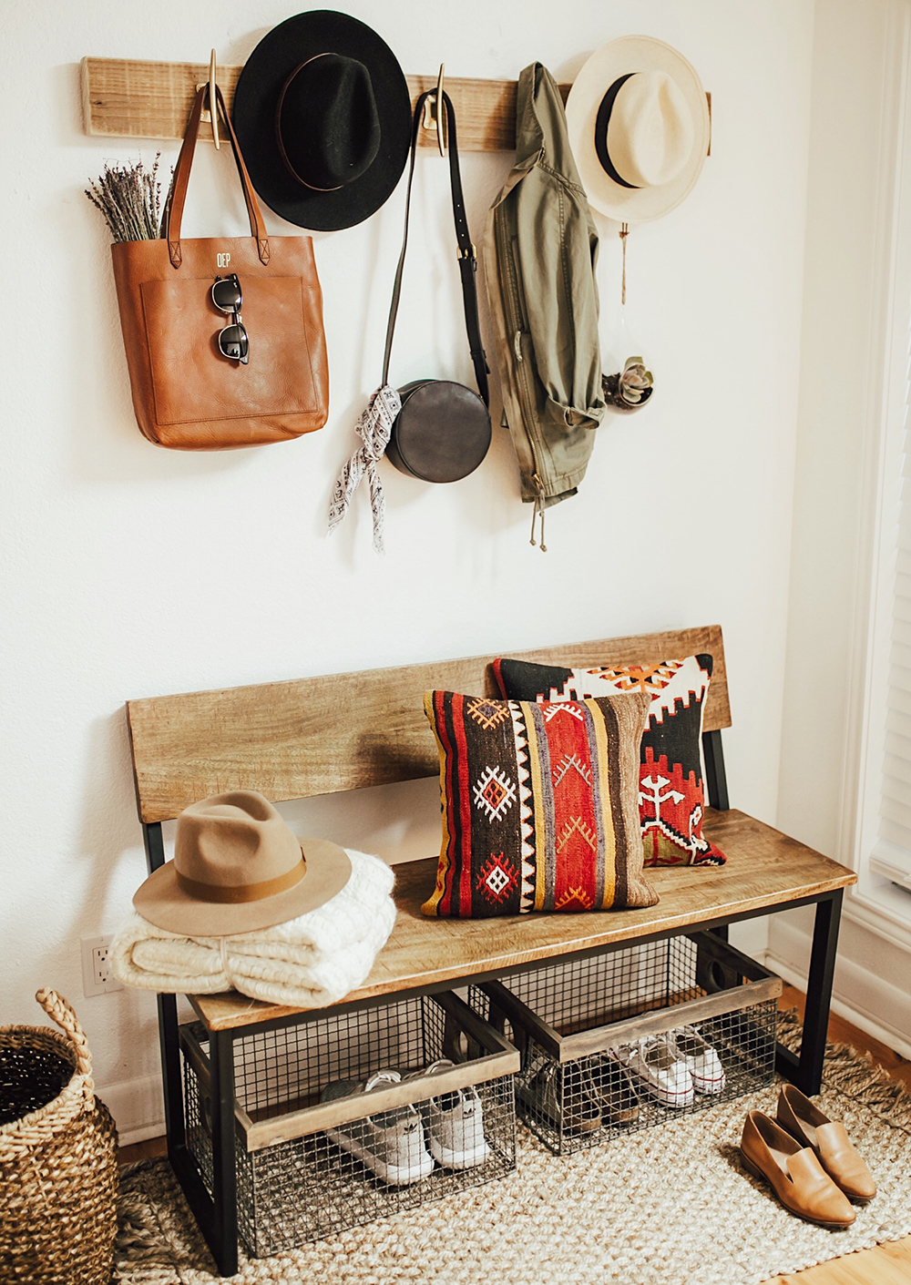 Our Bohemian Entryway Livvyland Austin Fashion And