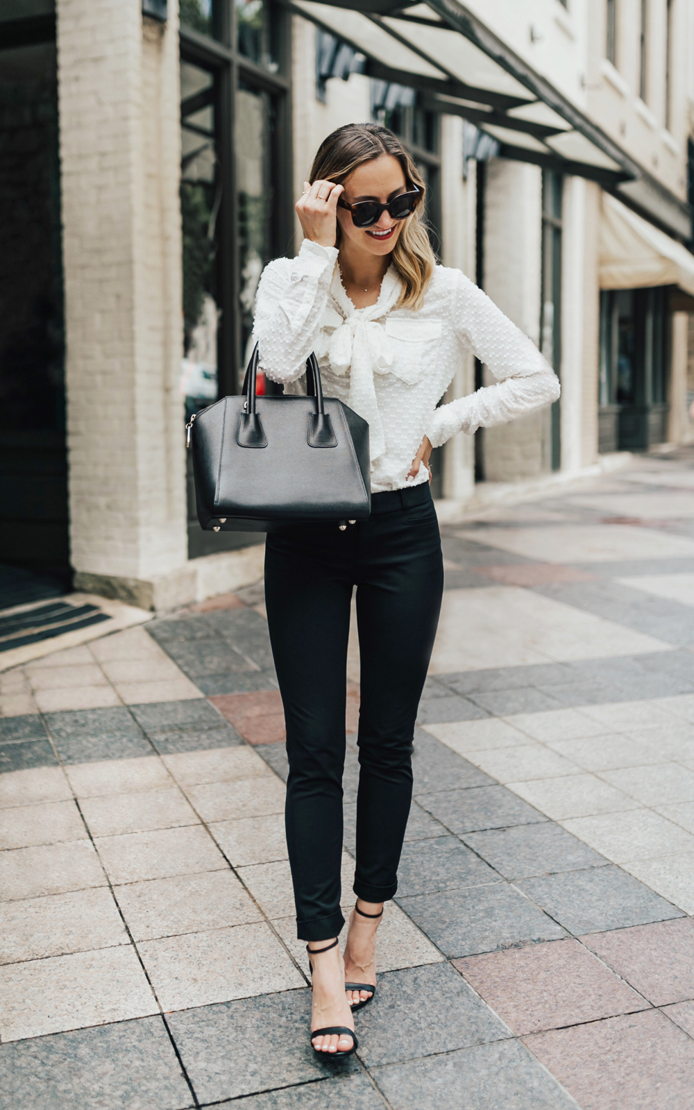 d08f726a48 Black Pants From Work To Play - LivvyLand | Austin Fashion and Style ...