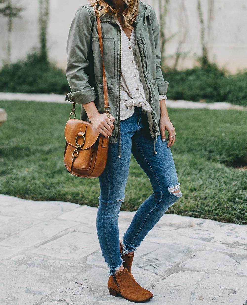 livvyland-blog-olivia-watson-austin-texas-fashion-blogger-minnatonka-moccasins-tan-suede-ankle-booties-madewell-utility-fleet-jacket-1