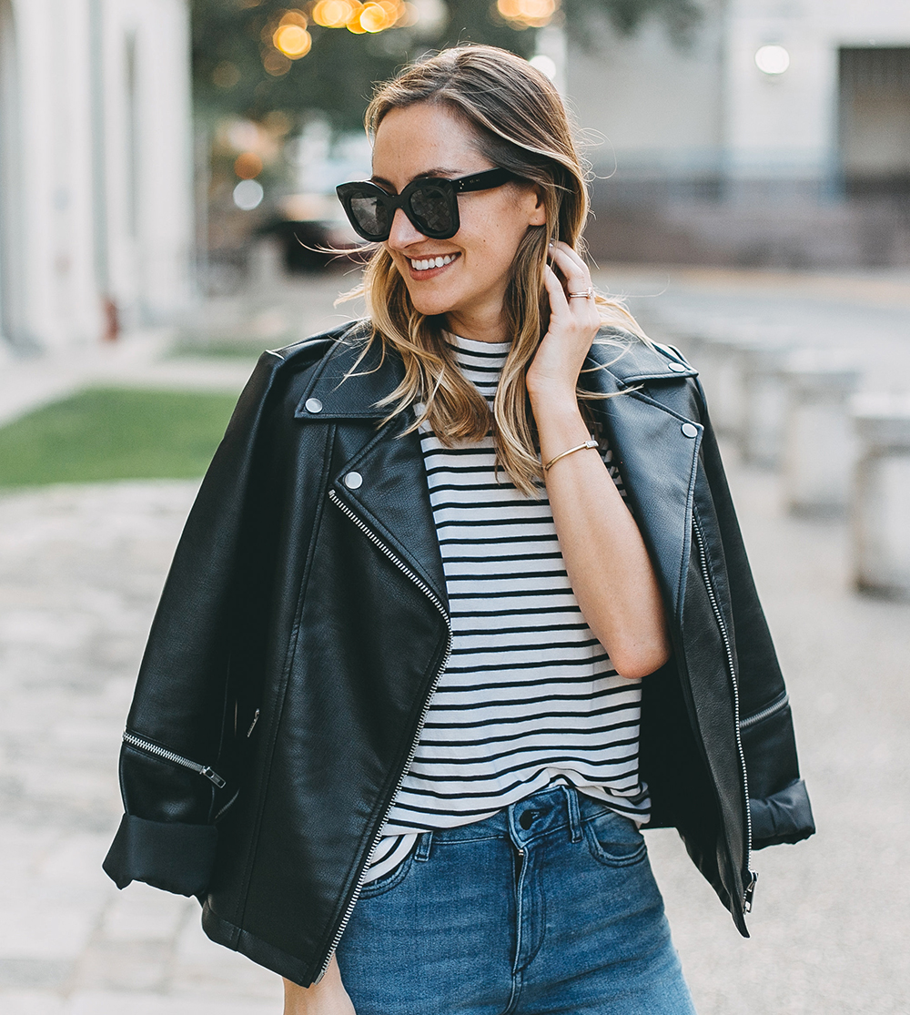livvyland-blog-olivia-watson-stripe-top-leather-moto-jacket-platform-sneakers-3