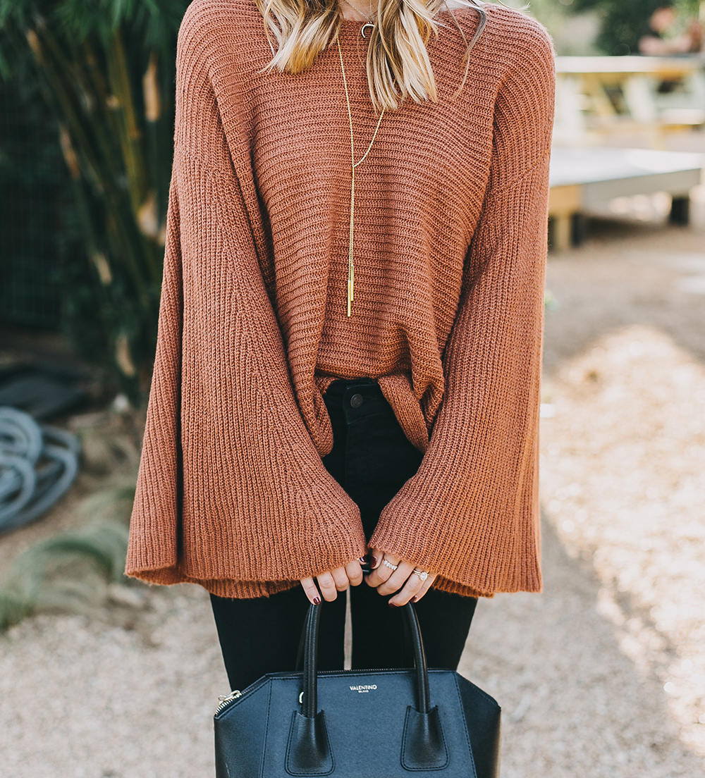 livvyland-blog-olivia-watson-austin-texas-fashion-lifestyle-blogger-fall-orange-slouchy-sweater-black-skinny-jeans-outfit-boho-fall-idea-3