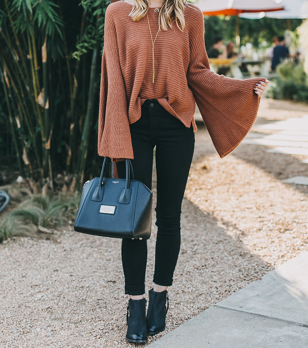 livvyland-blog-olivia-watson-austin-texas-fashion-lifestyle-blogger-fall-orange-slouchy-sweater-black-skinny-jeans-outfit-boho-fall-idea-5