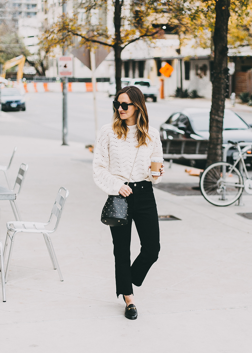 livvyland-blog-olivia-watson-austin-texas-fashion-blogger-white-knit-sweater-rag-bone-crop-flare-black-jeans-gucci-loafers-6