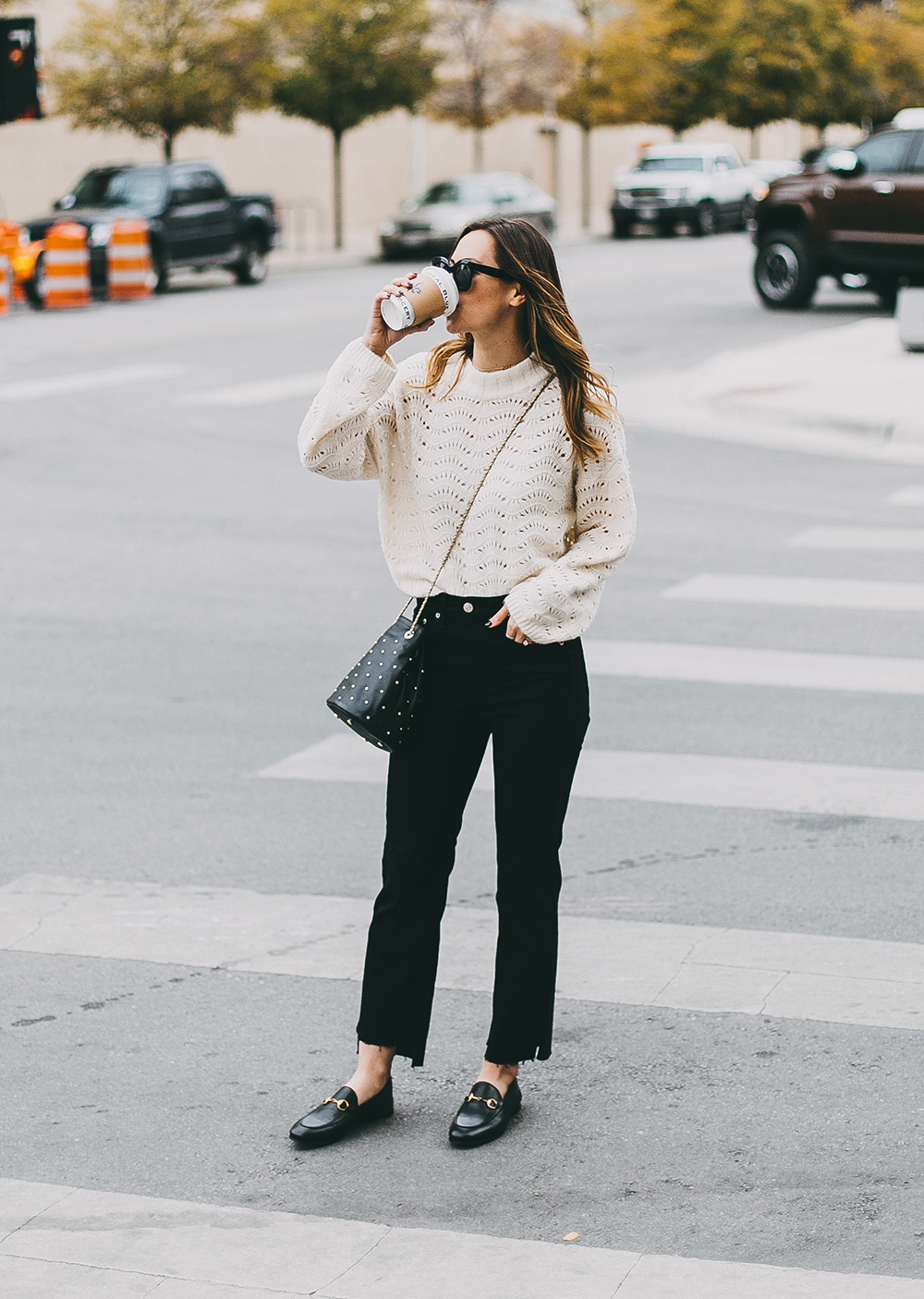 livvyland-blog-olivia-watson-austin-texas-fashion-blogger-white-knit-sweater-rag-bone-crop-flare-black-jeans-gucci-loafers-7