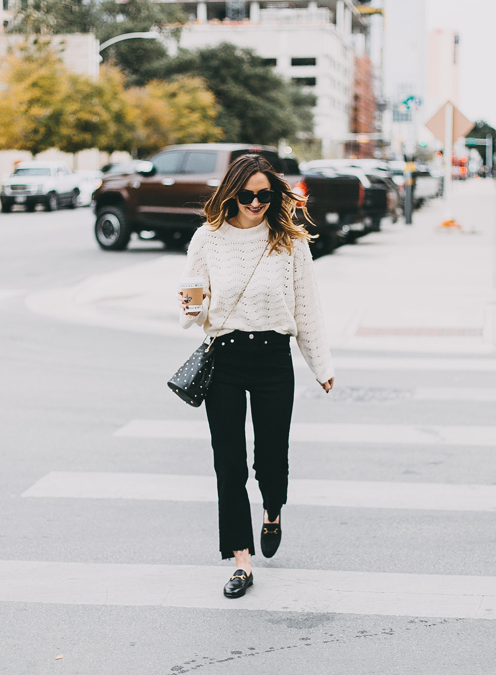 livvyland-blog-olivia-watson-austin-texas-fashion-blogger-white-knit-sweater-rag-bone-crop-flare-black-jeans-gucci-loafers-9